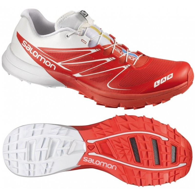 los angeles a40c0 248a2 TRAIL RUNNING SHOES SALOMON S-LAB SENSE 3 ULTRA RED AND WHITE ...