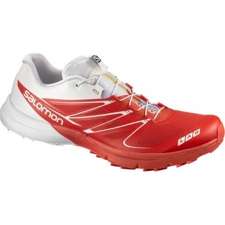 detailing 5c1e3 739c6 TRAIL RUNNING SHOES SALOMON S-LAB SENSE 3 ULTRA RED AND WHITE