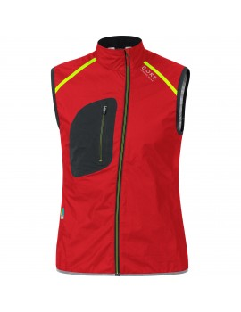 GORE RUNNING WEAR X-RUN ULTRA AS LIGHT VEST RED AND BLACK FOR MEN'S