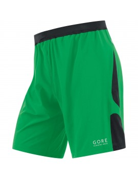 GORE RUNNING WEAR AIR 2 IN 1 SHORT GREEN AND BLACK FOR MEN'S