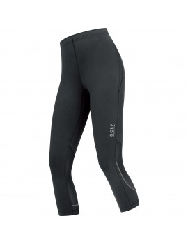 GORE RUNNING WEAR ESSENTIAL 3/4 TIGHT BLACK FOR WOMEN'S