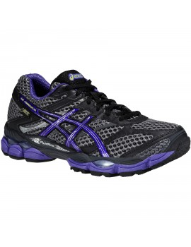 RUNNING SHOES ASICS GEL CUMULUS 16 GTX BLACK AND PURPLE FOR WOMEN'S