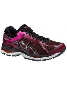 RUNNING SHOES ASICS GEL CUMULUS 17 GTX BLACK, PINK AND PURPLE FOR WOMEN'S