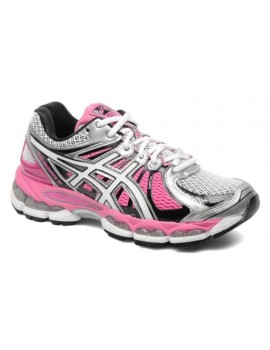 RUNNING SHOES ASICS GEL NIMBUS 15 GREY AND PINK FOR WOMEN'S