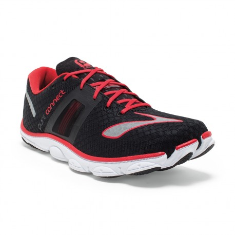 bde599d878f RUNNING SHOES BROOKS PURECONNECT 4 BLACK AND RED FOR MEN S