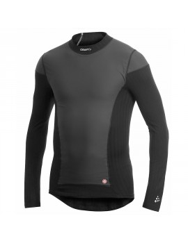 CRAFT BE ACTIVE EXTREME WINDSTOPPER LONG SLEEVE SHIRT BLACK FOR MEN'S