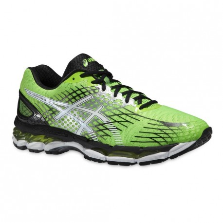 promo code fc4e5 1c08e RUNNING SHOES ASICS GEL NIMBUS 17 GREEN AND BLACK FOR MEN'S - Running  Discount