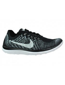 RUNNING SHOES NIKE FREE 4.0 FLYKNIT BLACK AND WHITE FOR MEN'S