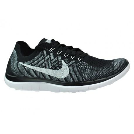 separation shoes 405e9 7bc05 RUNNING SHOES NIKE FREE 4.0 FLYKNIT BLACK AND WHITE FOR MEN S