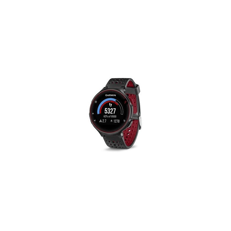 sp cialiste du running trail fitness montre de running garmin forerunner 235 noir et rouge. Black Bedroom Furniture Sets. Home Design Ideas