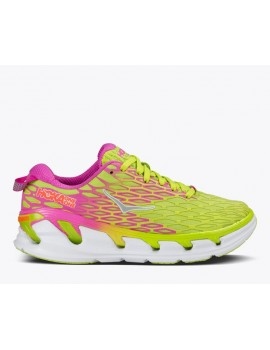 RUNNING SHOES HOKA ONE ONE VANQUISH 2 YELLOW AND PINK FOR WOMEN'S