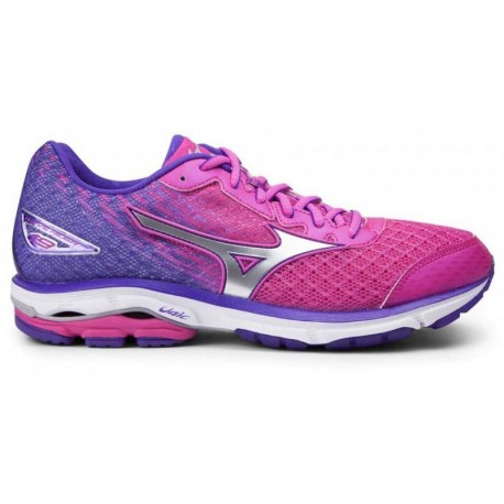 factory authentic 1f5c7 bab03 RUNNING SHOES MIZUNO WAVE RIDER 19 PINK AND PURPLE - Running Discount