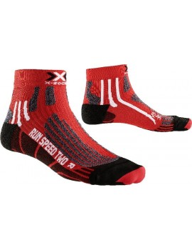 X-SOCKS RUN SPEED TWO RED AND BLACK FOR MEN'S