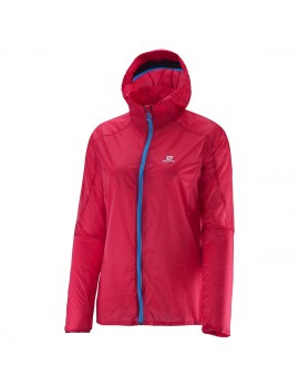 SALOMON FAST WING HOODIE JACKET PINK FOR WOMEN'S
