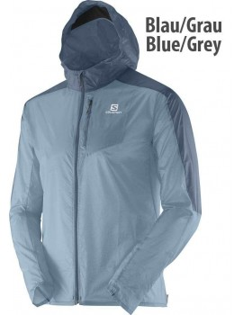 SALOMON FAST WING HOODIE JACKET GREY FOR MEN'S