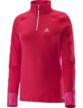 SALOMON TRAIL RUNNER WARM LONG SLEEVE TEE PINK FOR WOMEN'S