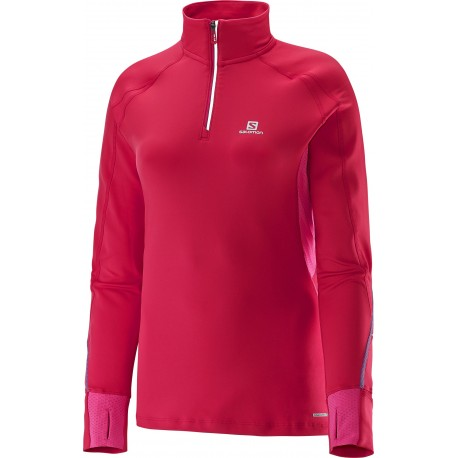 d8be3597caf4f SALOMON TRAIL RUNNER WARM LONG SLEEVE TEE PINK FOR WOMEN S