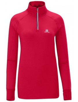 SALOMON TRAIL RUNNER WARM LS TEE PINK FOR WOMEN'S