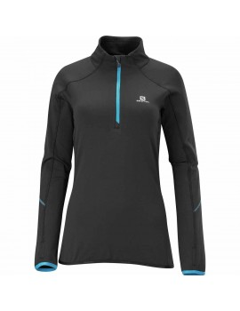 SALOMON JOLY MIDLAYER BLACK AND BLUE FOR WOMEN'S