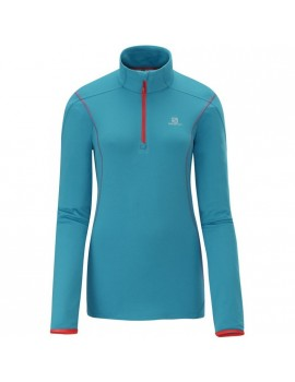 SALOMON DISCOVERY HZ MIDLAYER BLUE FOR WOMEN'S