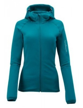 SALOMON TRACK HOODY MIDLAYER GREEN FOR WOMEN'S