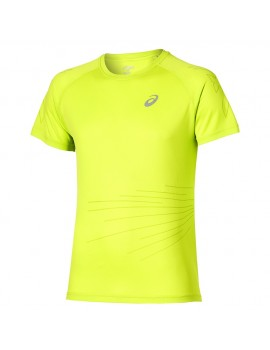 ASICS GRAPHIC SHORT SLEEVE TEE YELLOW FOR MEN'S