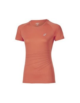 ASICS GRAPHIC SHORT SLEEVE TEE ORANGE FOR WOMEN'S