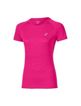 ASICS GRAPHIC SHORT SLEEVE TEE PINK FOR WOMEN'S