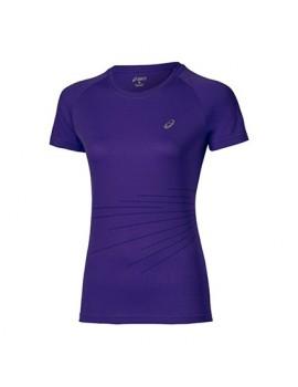 ASICS GRAPHIC SHORT SLEEVE TEE PURPLE FOR WOMEN'S