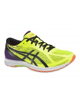 RUNNING SHOES ASICS GEL DS RACER 11 YELLOW AND PURPLE FOR MEN'S