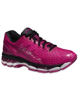 RUNNING SHOES ASICS GEL NIMBUS 17 LITE-SHOW PINK AND BLACK FOR WOMEN'S