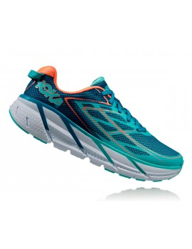 CHAUSSURES DE RUNNING HOKA ONE ONE CLIFTON 3 BLEU TURQUOISE POUR FEMMES