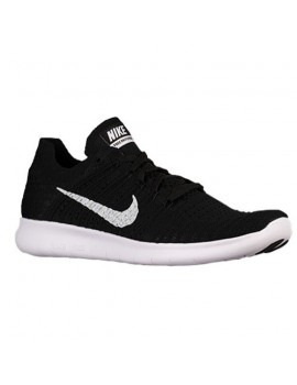 RUNNING SHOES NIKE FREE RN FLYKNIT BLACK AND WHITE FOR MEN'S