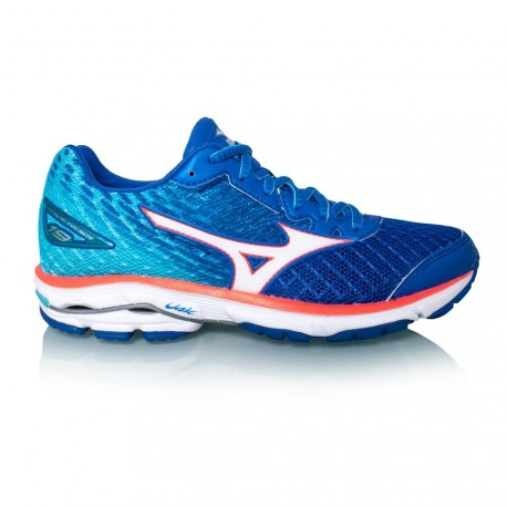 big sale 0774a 72055 RUNNING SHOES MIZUNO WAVE RIDER 19 BLUE FOR WOMEN'S - Running Discount