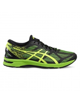 RUNNING SHOES ASICS GEL DS TRAINER 21 BLACK AND GREEN FOR MEN'S