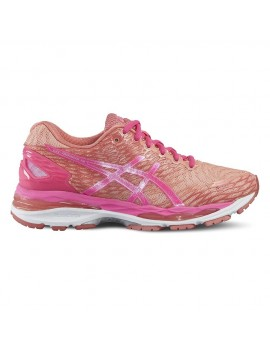 RUNNING SHOES ASICS GEL NIMBUS 18 PINK AND ORANGE FOR WOMEN'S