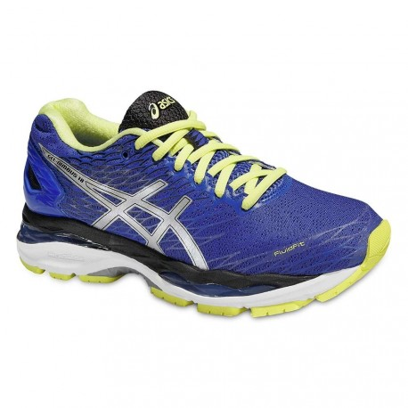 RUNNIGN SHOES ASICS GEL NIMBUS 18 BLUE AND YELLOW FOR WOMEN'S