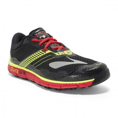 TRAIL RUNNING SHOES BROOKS PURE GRIT 5 BLACK, YELLOW AND RED FOR MEN'S