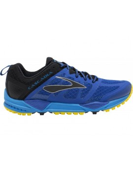 TRAIL RUNNING SHOES BROOKS CASCADIA 11 BLUE AND BLACK FOR MEN'S