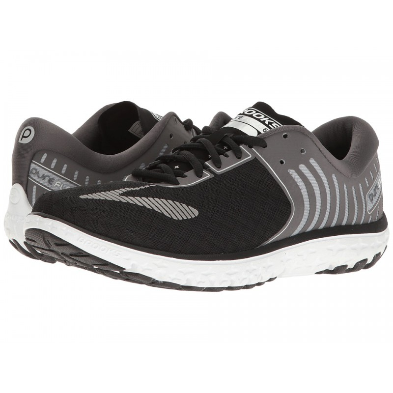 trail firness specialist running shoes brooks pure flow 6 black and grey for men 39 s running. Black Bedroom Furniture Sets. Home Design Ideas