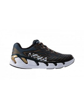 HOKA ONE ONE VANQUISH 3 RUNNING SHOES NAVY BLUE AND GOLD FOR MEN'S