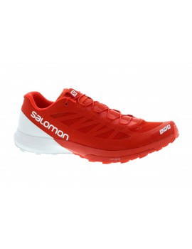 TRAIL RUNNING SHOES SALOMON S-LAB SENSE 6 RED AND WHITE FOR MEN'S