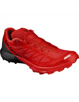 TRAIL RUNNING SHOES SALOMON S-LAB SENSE 6 SG BLACK AND RED FOR MEN'S