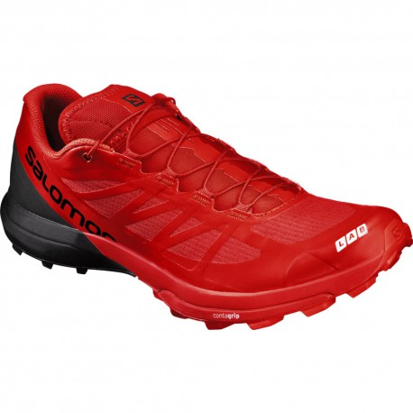 reputable site 6e2c1 c4518 TRAIL RUNNING SHOES SALOMON S-LAB SENSE 6 SG BLACK AND RED FOR MEN S