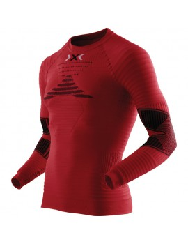 RUNNING SHIRT WITH LONG SLEEVE X-BIONIC EFFEKTOR RED FOR MEN'S