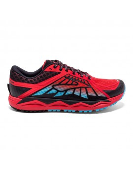 TRAIL RUNNING SHOES BROOKS CALDERA RED, BLACK AND BLUE FOR MEN'S