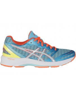 RUNNING SHOES ASICS GEL DS TRAINER 22 AQUARIUM, AQUA SPLASH AND FLASH CORAL FOR WOMEN'S