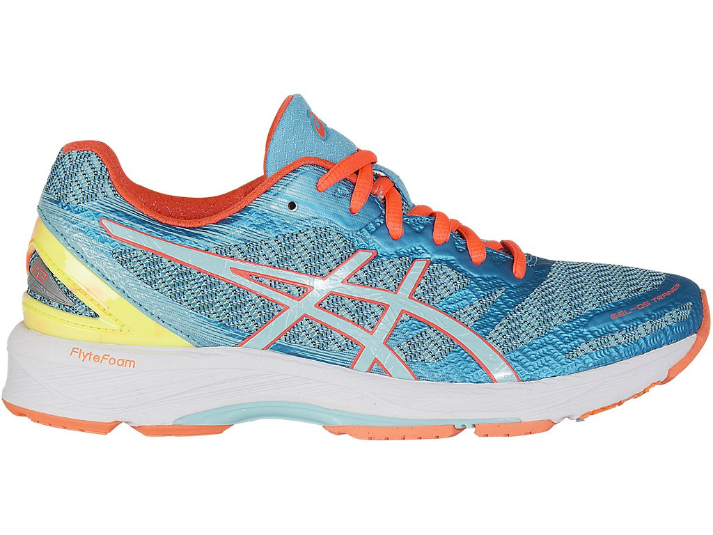 asics bleu orange jaune