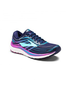 RUNNING SHOES BROOKS GLYCERIN 15 EVENING BLUE, PURPLE CACTUS AND TEAL VICTORY FOR WOMEN'S