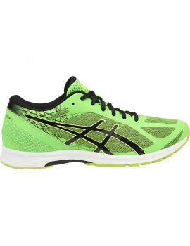 RUNNING SHOES ASICS GEL DS RACER GREEN GECKO, BLACK AND SAFETY YELLOW FOR MEN'S